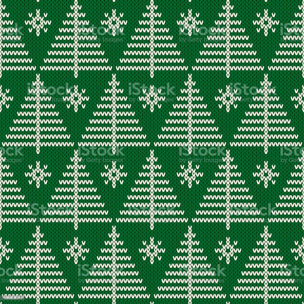 Sportlovet Sömlös Stickad Mönster Med En Julgranar Sticka Tröja Design Ull Sticka Textur vektorgrafik och fler bilder på Bildbakgrund
