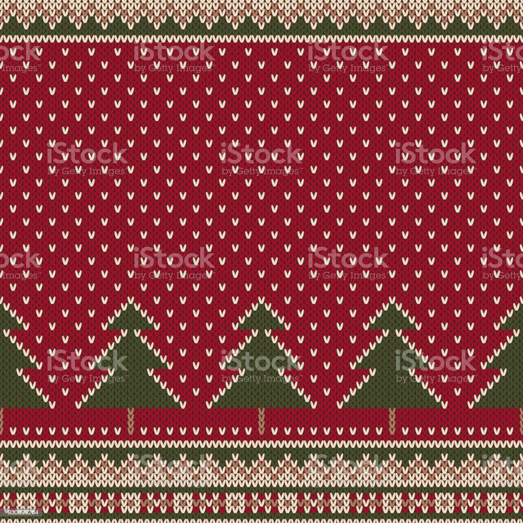 Encantador Navidad Teje Patrones Cresta - Ideas de Patrón de Vestido ...