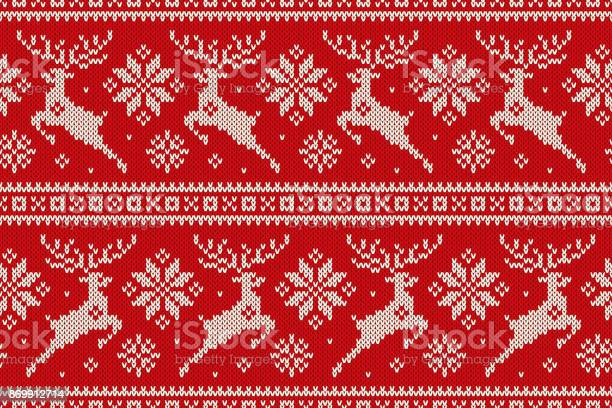 Winter holiday seamless knitted pattern with christmas reindeer and vector id869912714?b=1&k=6&m=869912714&s=612x612&h=0piwrev6d1lumnhkdffba1c1pvjuc8qy6gyfv8n0o70=