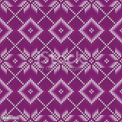 Winter Holiday Seamless Knitting Pattern Fair Isle Christmas ...