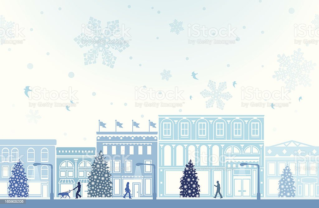 Winter Holiday Shopping royalty-free stock vector art