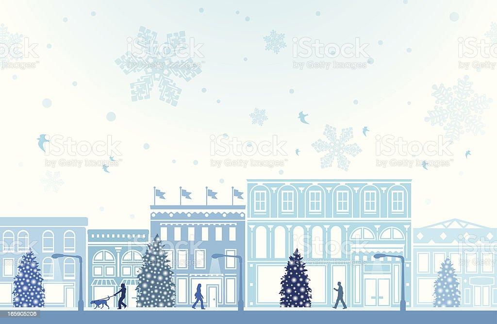 Shopping d'hiver - Illustration vectorielle