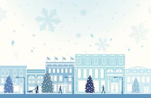 Зимний Пакет Услуг Holiday Shopping — стоковая векторная графика и другие изображения на тему Архитектура