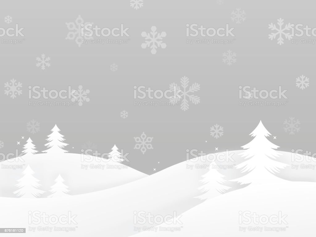 Winter Holiday Trees Background vector art illustration