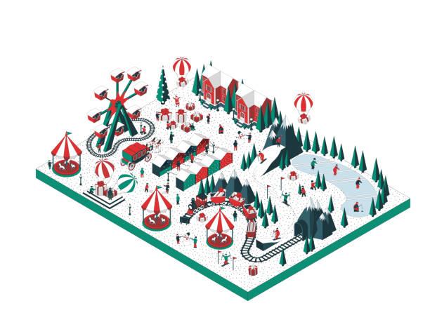 illustrazioni stock, clip art, cartoni animati e icone di tendenza di vacanze invernali - negozio sci