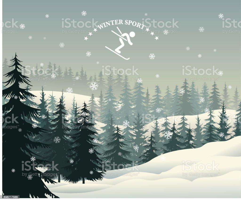 winter holiday vector art illustration