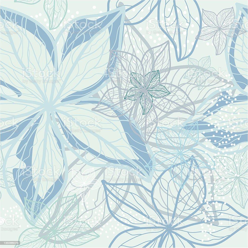 Winter holidays flower pattern, vector. royalty-free stock vector art