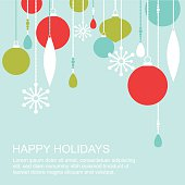 Winter holidays greetings card