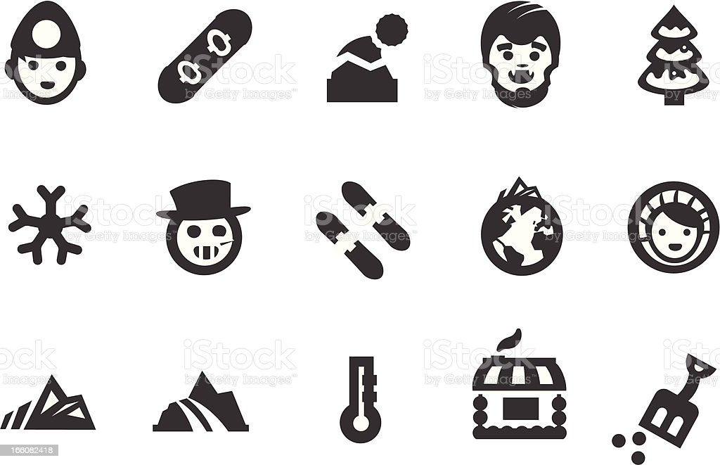 Winter Icon Set vector art illustration