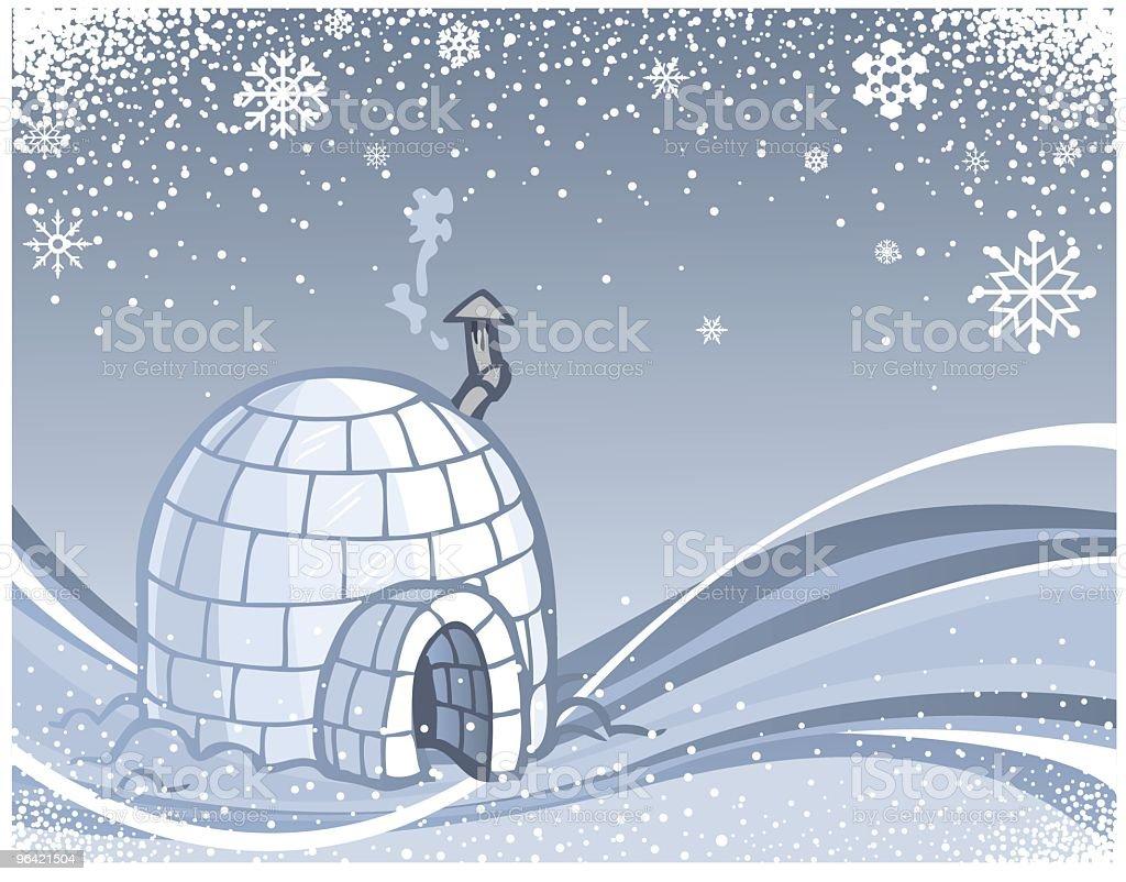 Winter Igloo Swish royalty-free stock vector art