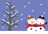Winter image.Snowman.