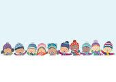 winter kids backgrounds