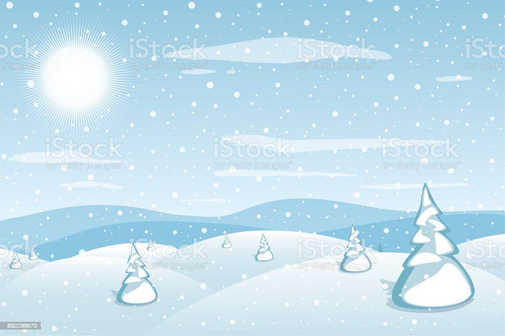 Winterlandschafthintergrund Blue Mountains Verschneiten Hügel Und ...
