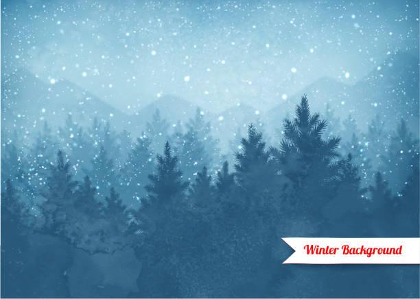 冬景色を背景に - 冬点のイラスト素材/クリップアート素材/マンガ素材/アイコン素材