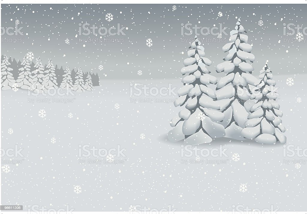 Winter landscape background (vector) - Royalty-free Celebration stock vector