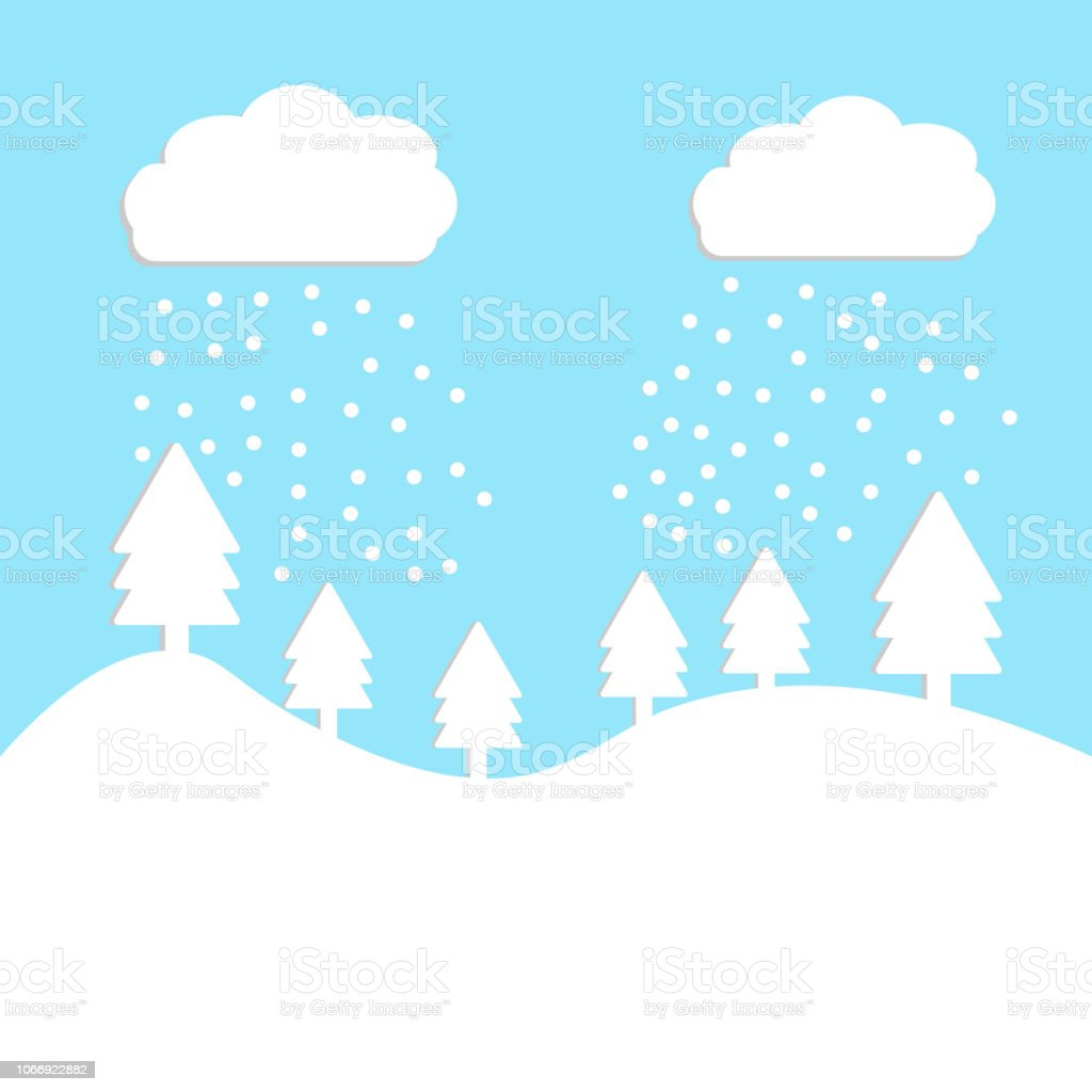winter landscape for papermerry christmas and new year vector illustration royalty free