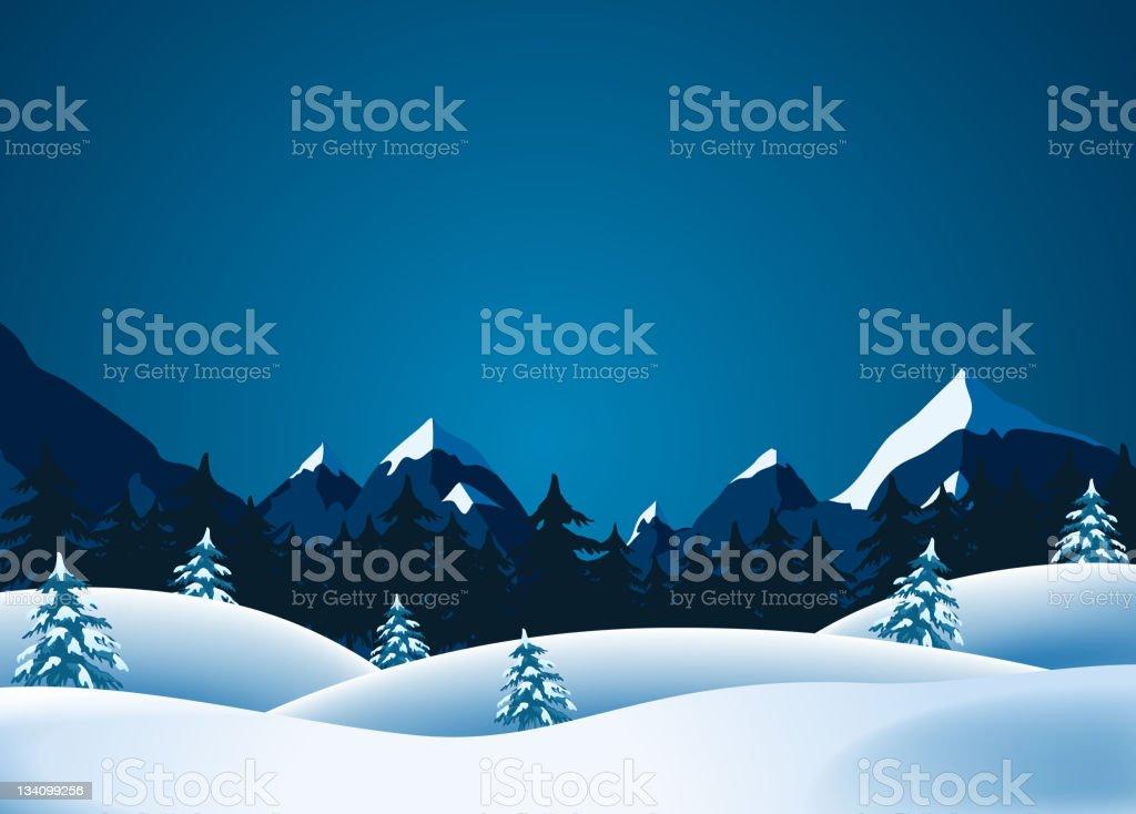 Winter Landscape royalty-free winter landscape stock vector art & more images of cartoon