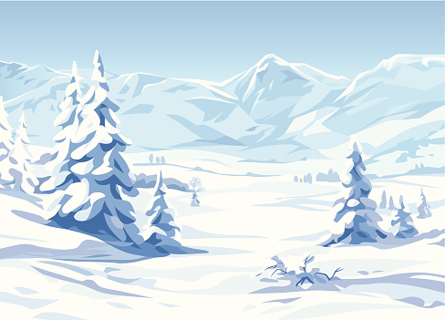 Snow stock illustrations