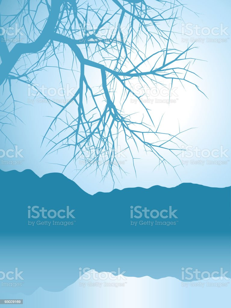 winter landscape royalty-free winter landscape stock vector art & more images of backgrounds