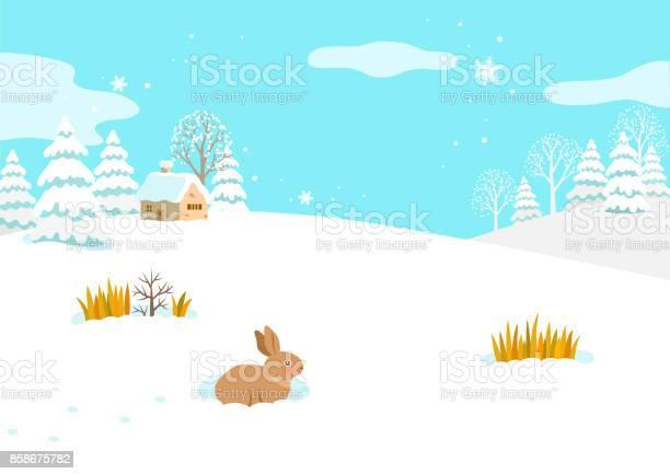 Winter landscape with snowy house and rabbit vector id858675782?b=1&k=6&m=858675782&s=612x612&h=qzxhh3kriqchpafsaahqu1llrwtkowwktqgxg01ggci=