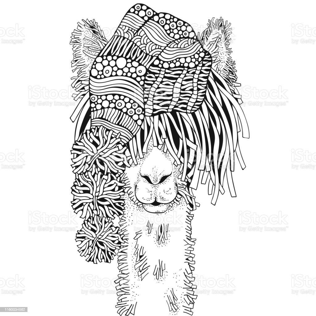 Ilustración De Llama De Invierno Página De Libro Para