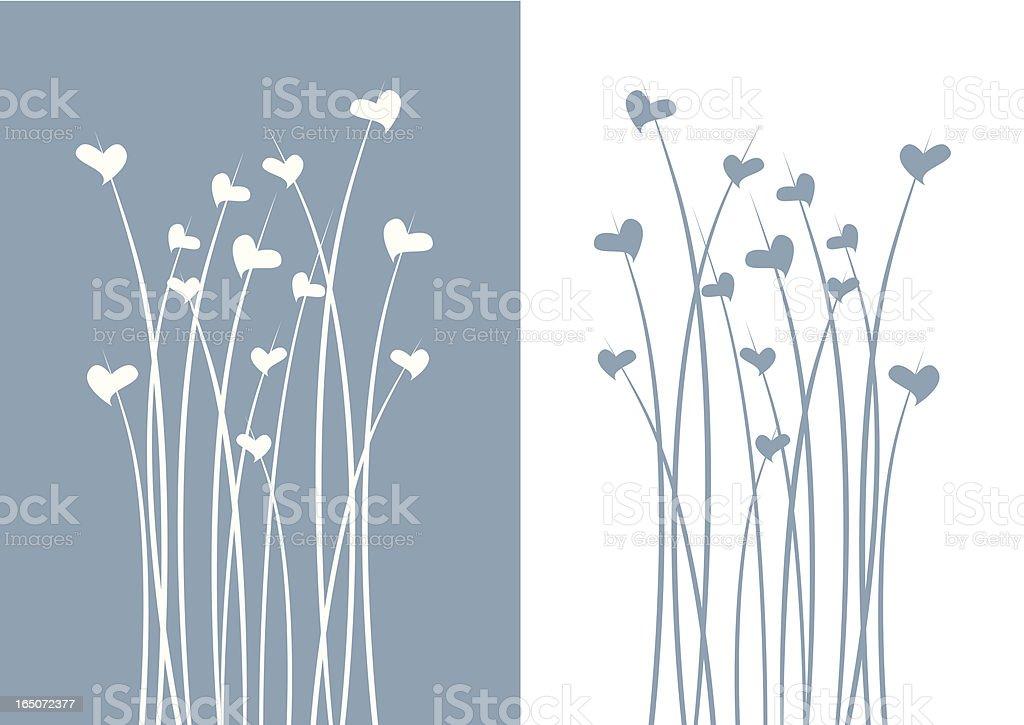 Winter love flower vector art illustration