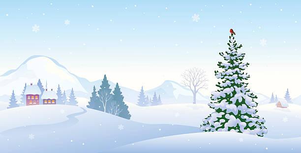 winter morning background - 雪景色点のイラスト素材/クリップアート素材/マンガ素材/アイコン素材