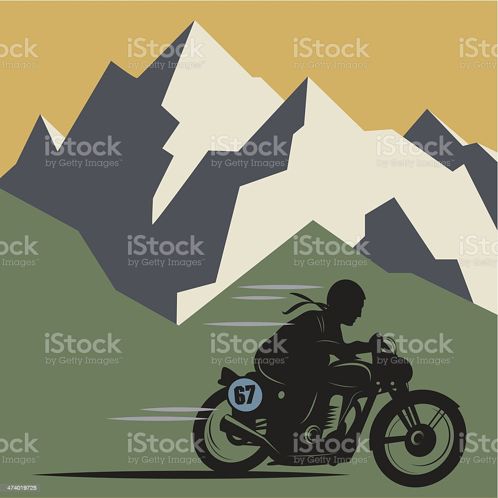 Winter mountain background royalty-free stock vector art