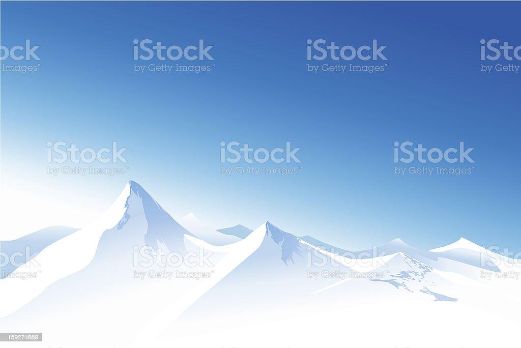 Winter mountains royalty-free stock vector art
