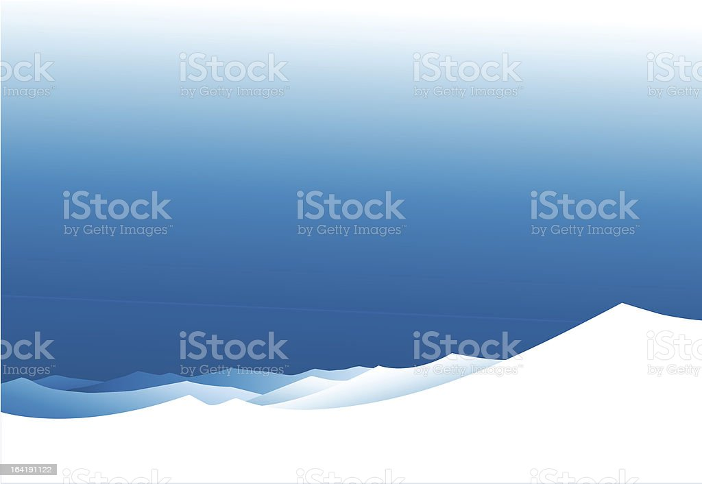 Winter mountains royalty-free stock vector art