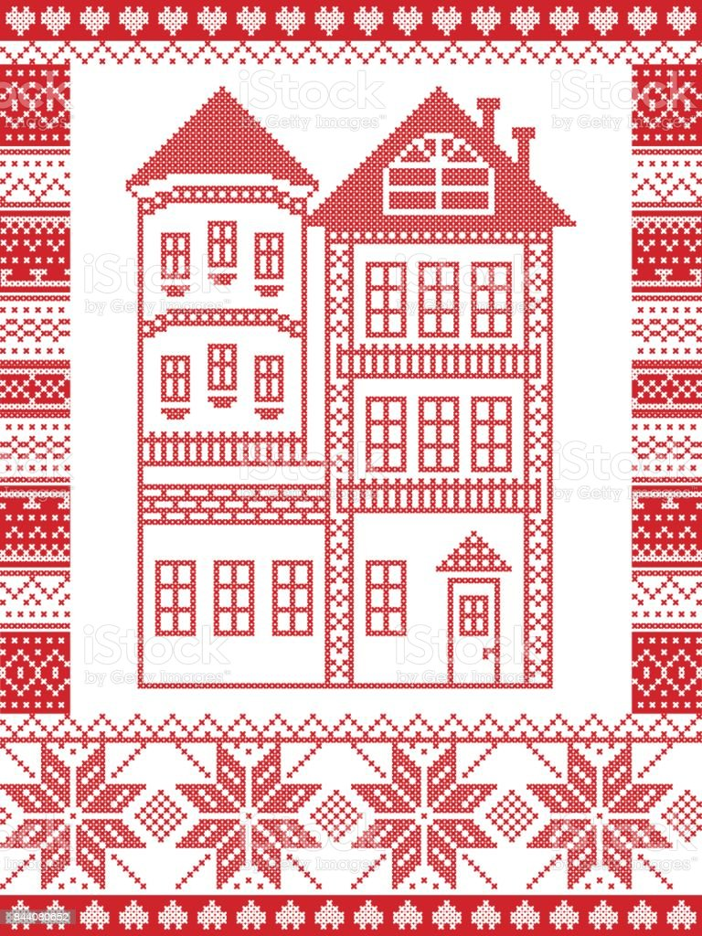 Winter Nordic Style And Inspired By Scandinavian Christmas Pattern ...
