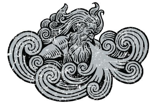 Winter or Wind Storm Grunge Graphic