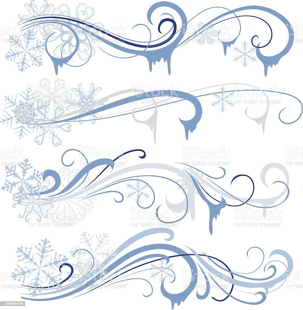 Winter ornament royalty-free stock vector art