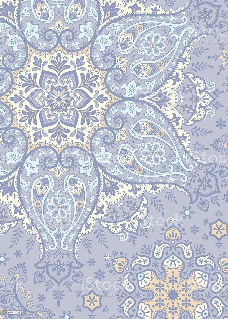 Winter Paisley royalty-free stock vector art