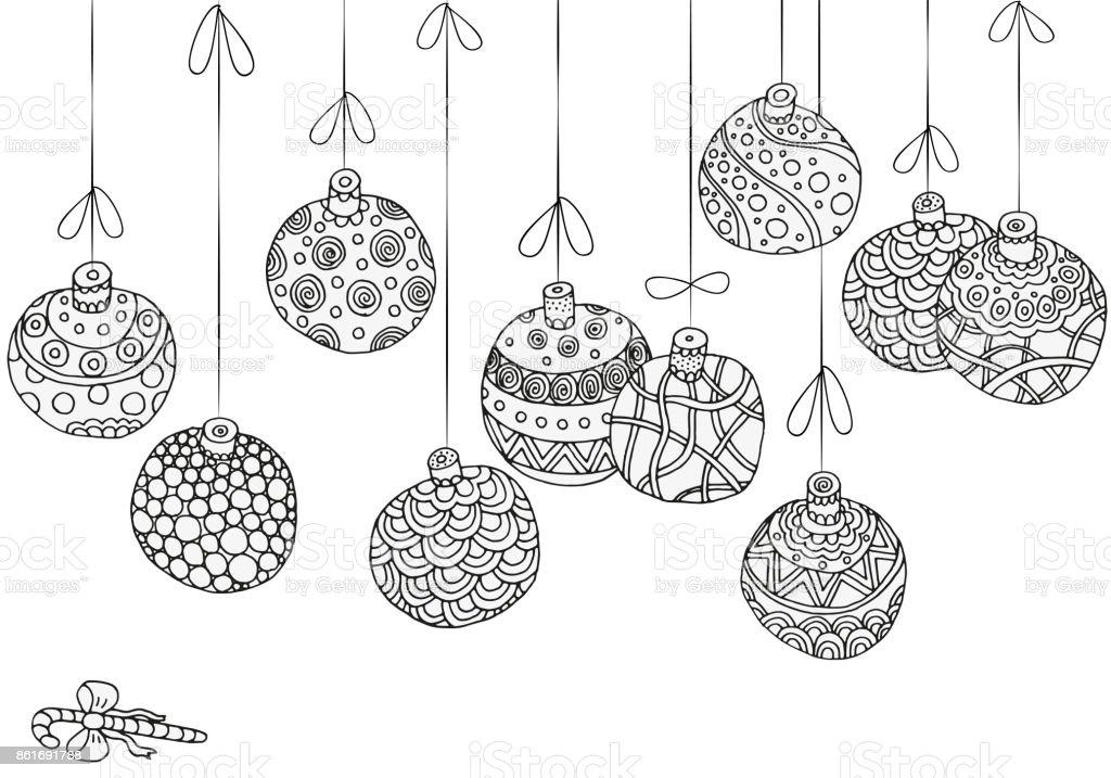 Ilustración de Patrón De Invierno Con Elementos Decorativos Hechos A ...