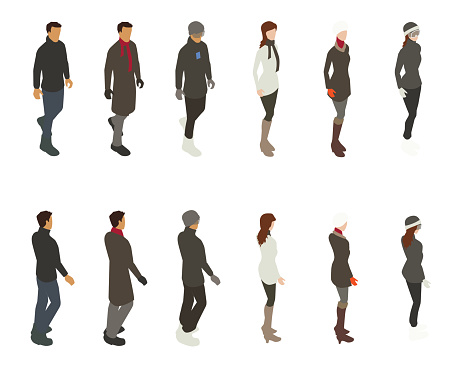 Winter People Illustration