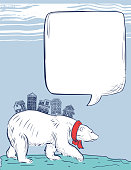 Winter Polar Bear With Houses On His Back