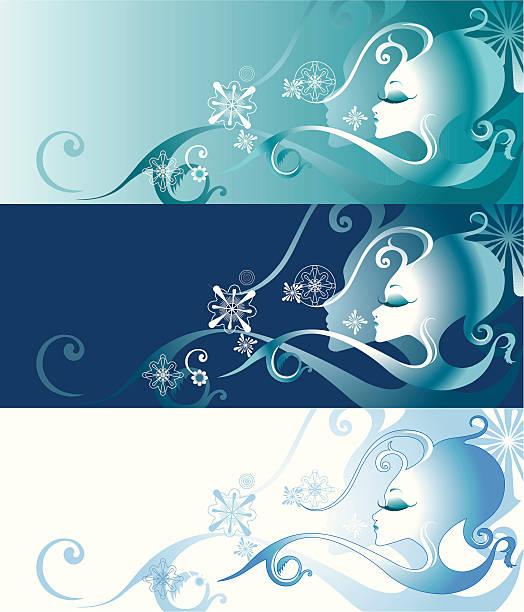 Zima queen – artystyczna grafika wektorowa