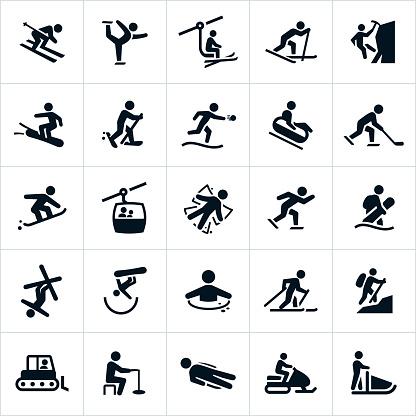 Winter Recreation Activities Icons