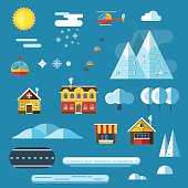 Winter Resort Landscape Creator Set