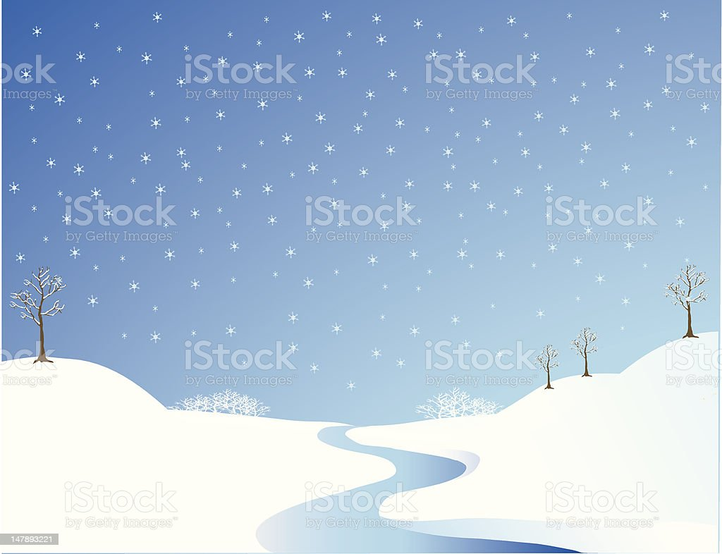 Winter River royalty-free stock vector art