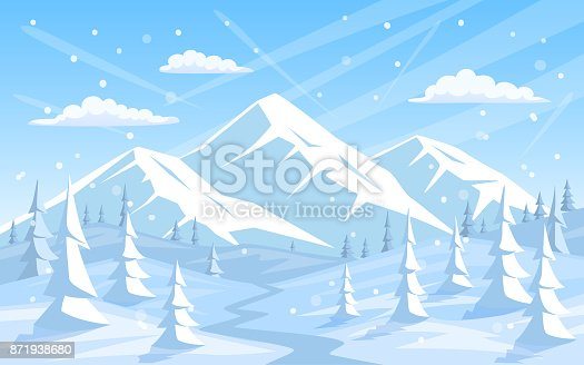 istock winter rocky mountains xmas vacation happy new year greeting landscape background 871938680