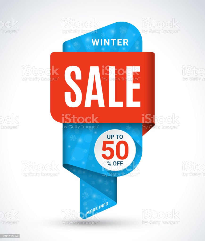 winter sale banner christmas and new year sale tag special offer vector template