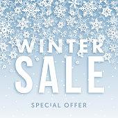Winter sale banner - Illustration