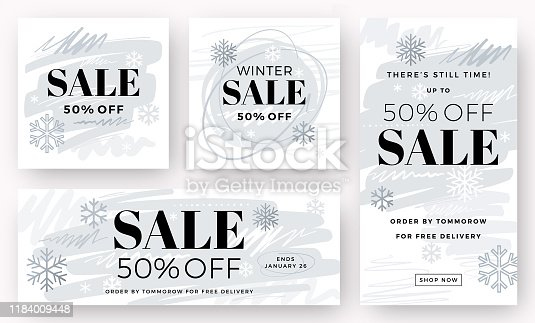 Holiday sale banners.