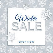 Winter sale design for advertising, banners, leaflets and flyers. Stock illustration