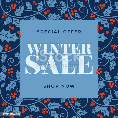 istock Winter sale design for advertising, banners, leaflets and flyers. 1285134295
