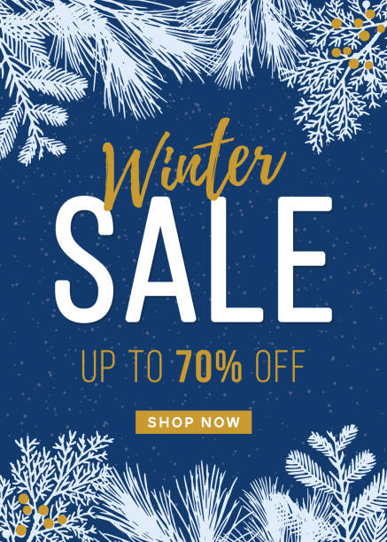 winter sale design for advertising, banners, leaflets and flyers. - winter stock illustrations, clip art, cartoons, & icons