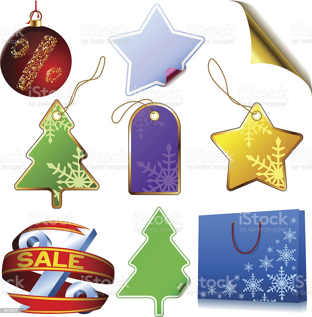 Winter sale elements royalty-free winter sale elements stock vector art & more images of bag