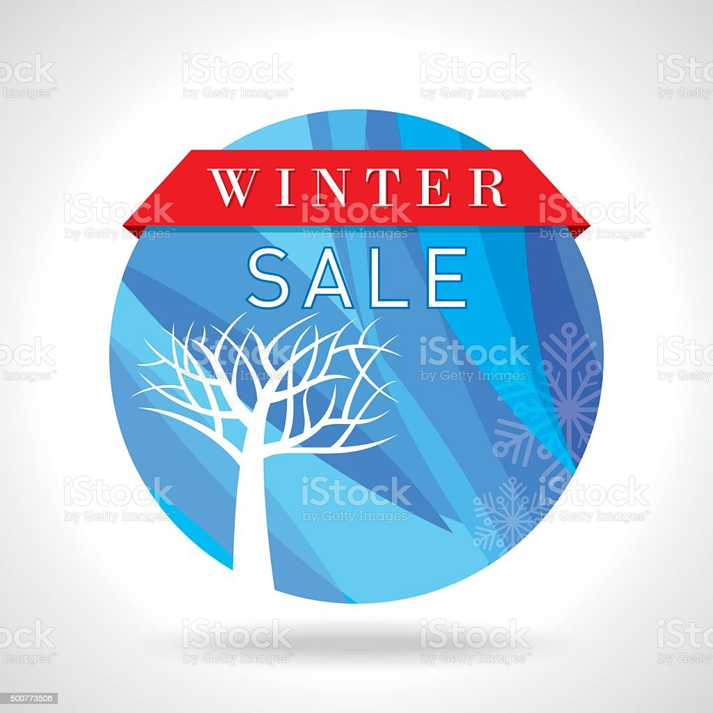 winter sale poster design or background creative business